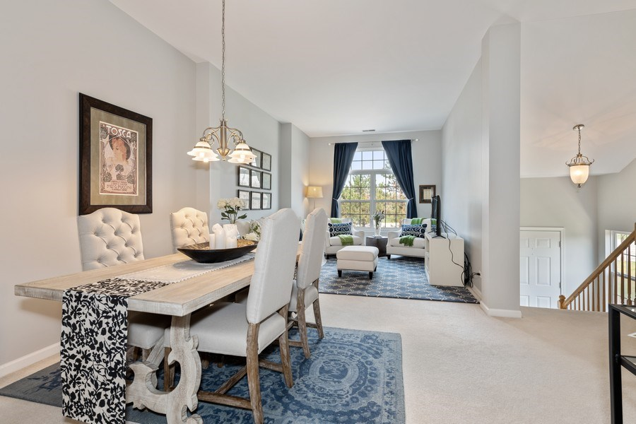 Real Estate Photography - 2477 Wilton Lane, Unit 2477, Aurora, IL, 60502 - Living Room / Dining Room