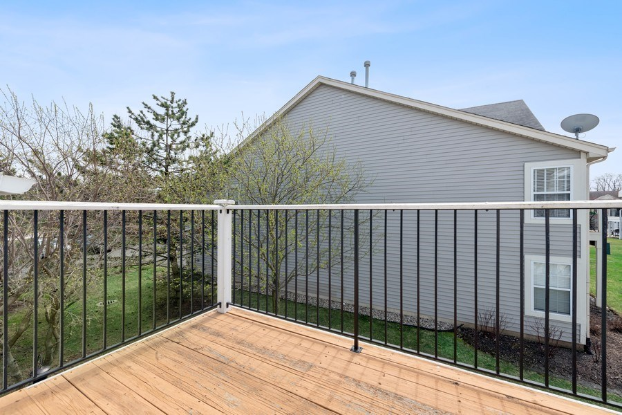 Real Estate Photography - 2477 Wilton Lane, Unit 2477, Aurora, IL, 60502 - Balcony