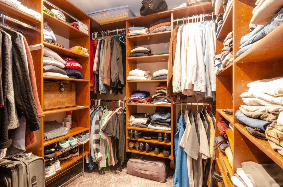 Real Estate Photography - 18N579 Field Ct, Dundee, IL, 60118 - Master Bedroom Closet