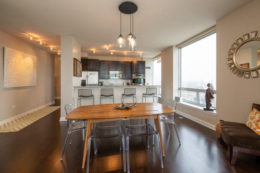 Real Estate Photography - 1901 S. Calumet Avenue, Unit 1407, Chicago, IL, 60616 - Kitchen / Dining Room