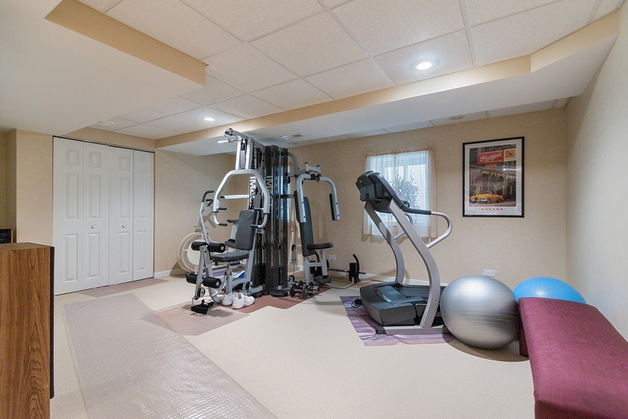 Real Estate Photography - 108 Andover Drive, Prospect Heights, IL, 60070 - Basement Workout Room