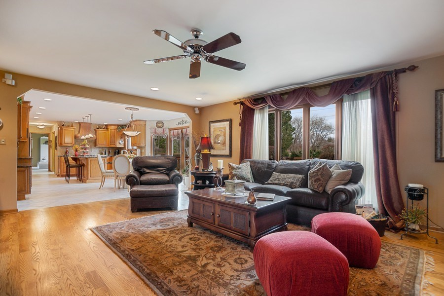 Real Estate Photography - 108 Andover Drive, Prospect Heights, IL, 60070 - Family room open to kitchen