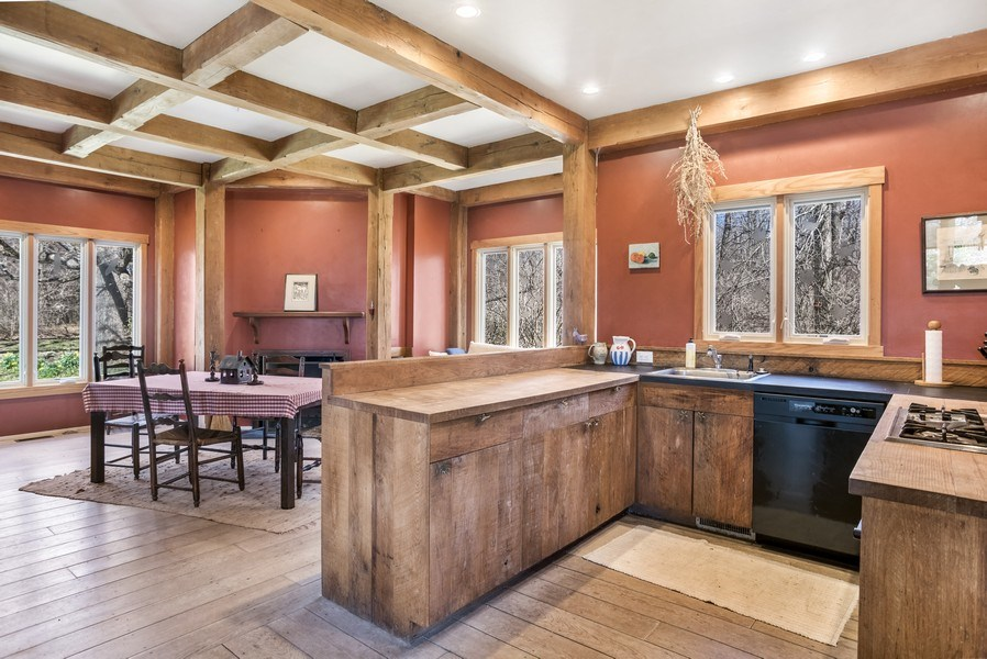 Real Estate Photography - 9513 Reese Road, Harvard, IL, 60033 - Kitchen / Dining Room