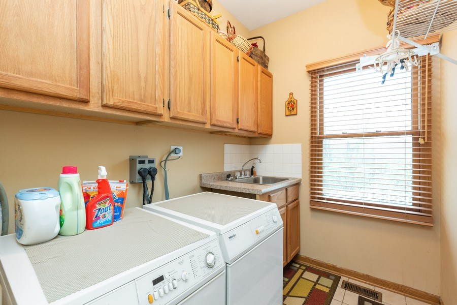 Real Estate Photography - 5 Cardiff Court, Algonquin, IL, 60102 - Laundry Room