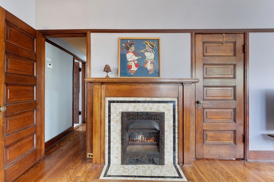 Real Estate Photography - 1019 Chicago Ave, Oak Park, IL, 60302 - Master Bedroom Fireplace