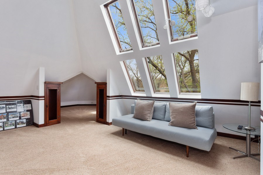 Real Estate Photography - 1019 Chicago Ave, Oak Park, IL, 60302 - 3rd Floor Family Room and Bonus Turret Room Entran