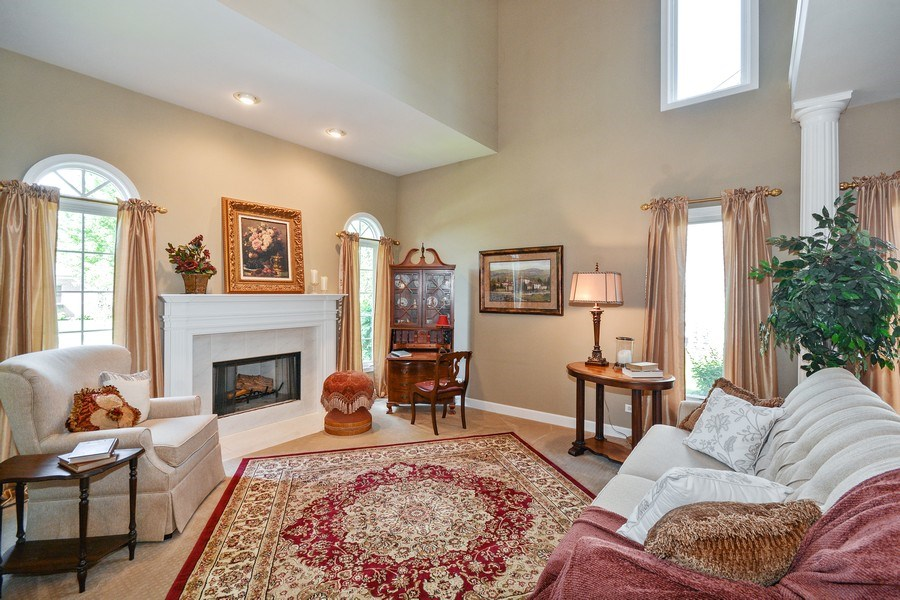 Real Estate Photography - 608 Pottawatomie Trail, Batavia, IL, 60510 - Living Room