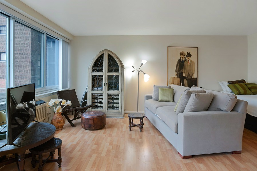 Real Estate Photography - 1440 N. Lake Shore Drive, Unit 11F, Chicago, IL, 60610 - Living Room