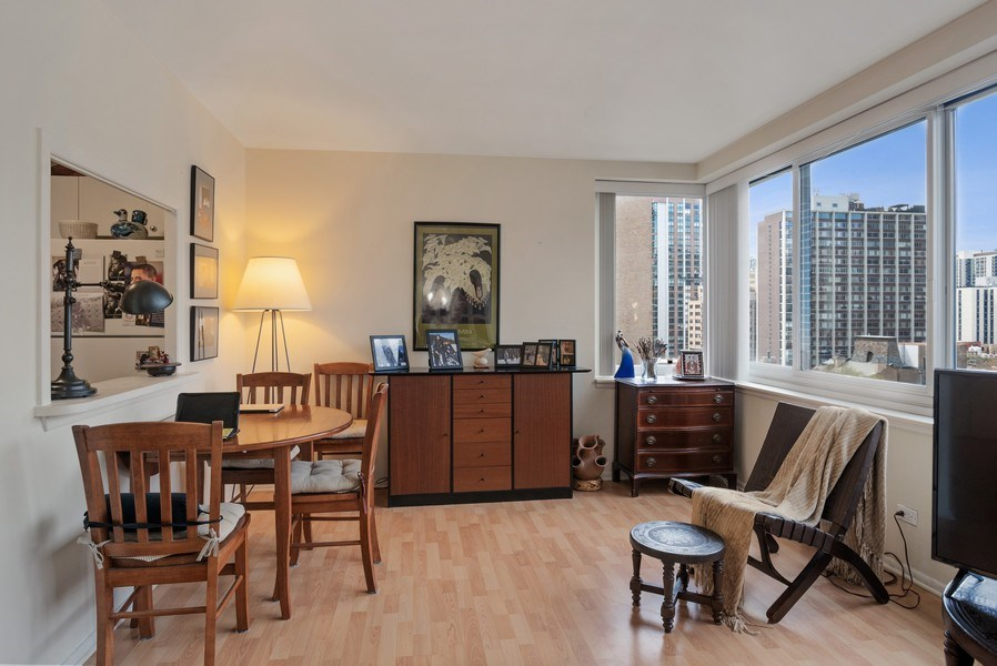 Real Estate Photography - 1440 N. Lake Shore Drive, Unit 11F, Chicago, IL, 60610 - Dining Room