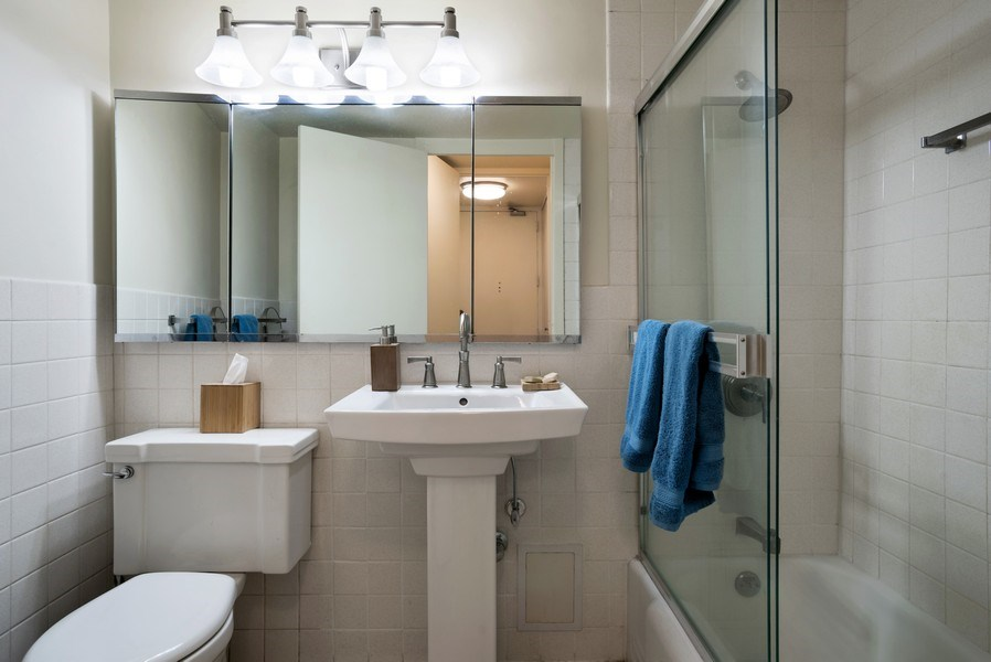 Real Estate Photography - 1440 N. Lake Shore Drive, Unit 11F, Chicago, IL, 60610 - Bathroom