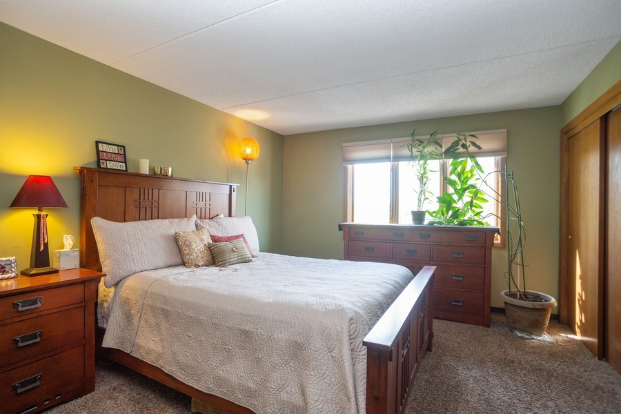 Real Estate Photography - 225 E. Wing Street, Unit 402, Arlington Heights, IL, 60004 - Bedroom