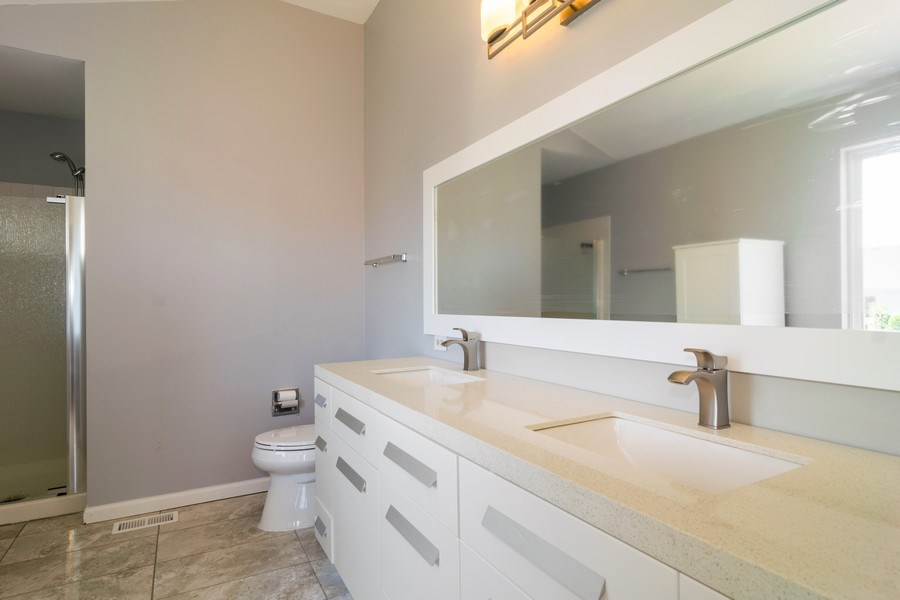 Real Estate Photography - 219 Faircroft Road, Bartlett, IL, 60103 - Master Bathroom