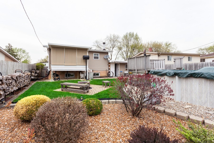 Real Estate Photography - 4527 W. Howdy Lane, Alsip, IL, 60803 - Rear View