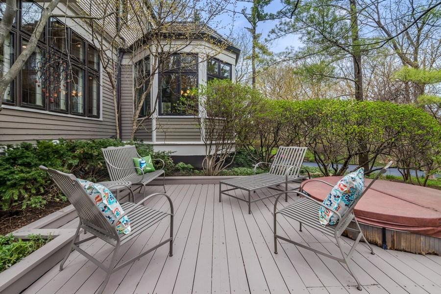 Real Estate Photography - 515 Greenleaf Avenue, Glencoe, IL, 60022 - Back Yard
