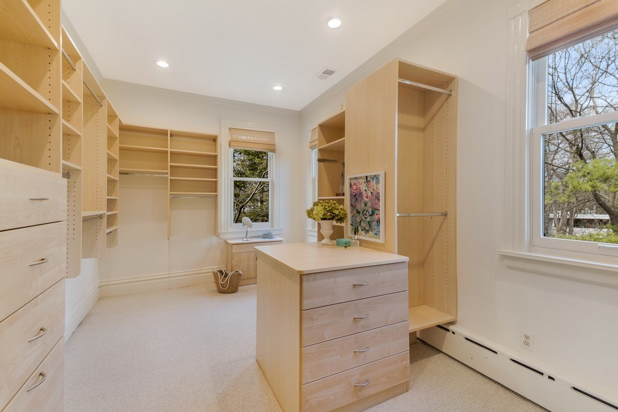 Real Estate Photography - 515 Greenleaf Avenue, Glencoe, IL, 60022 - Master Bedroom Closet