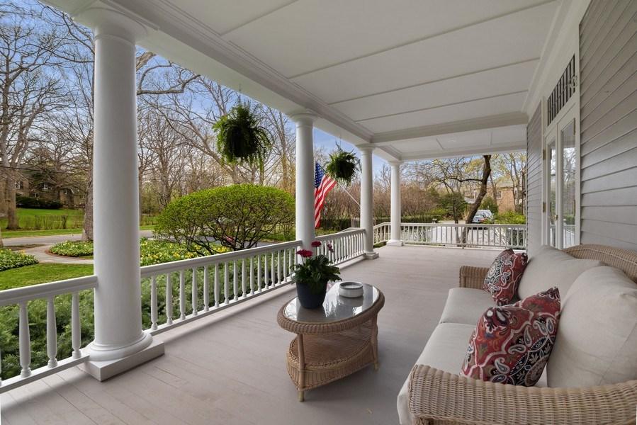 Real Estate Photography - 515 Greenleaf Avenue, Glencoe, IL, 60022 - Deck