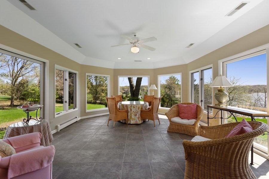 Real Estate Photography - 53 W. Lake Shore Drive, Barrington, IL, 60010 - Sun Room