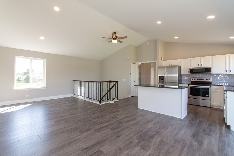 Real Estate Photography - 2860 Conifer Court, Aurora, IL, 60502 - Kitchen/Living