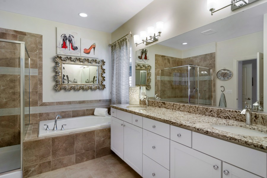 Real Estate Photography - 1432 Somerset Place, Barrington, IL, 60010 - Master Bathroom