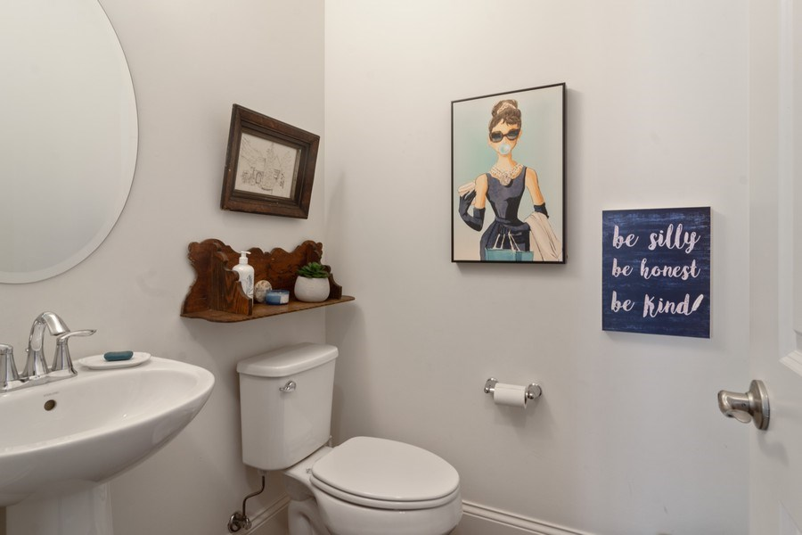 Real Estate Photography - 1432 Somerset Place, Barrington, IL, 60010 - Half Bathroom Main Level