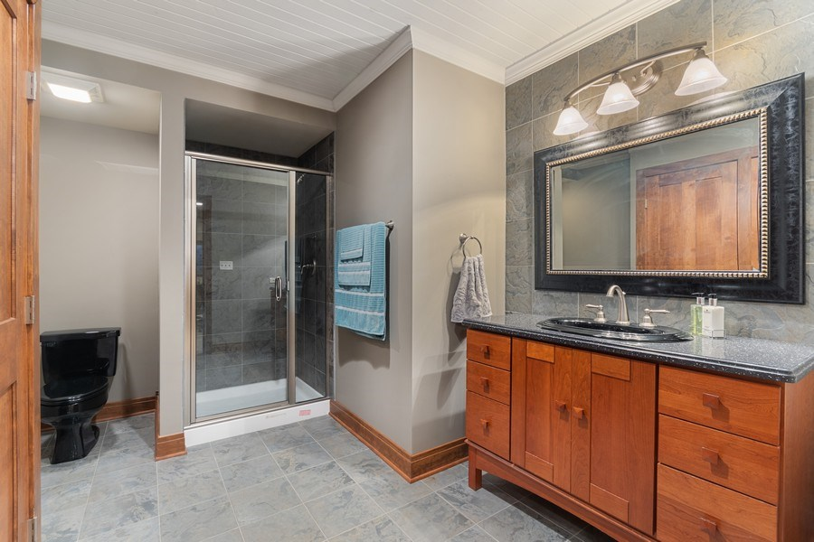 Real Estate Photography - 630 Ekman Drive, Batavia, IL, 60510 - Basement Full Bath