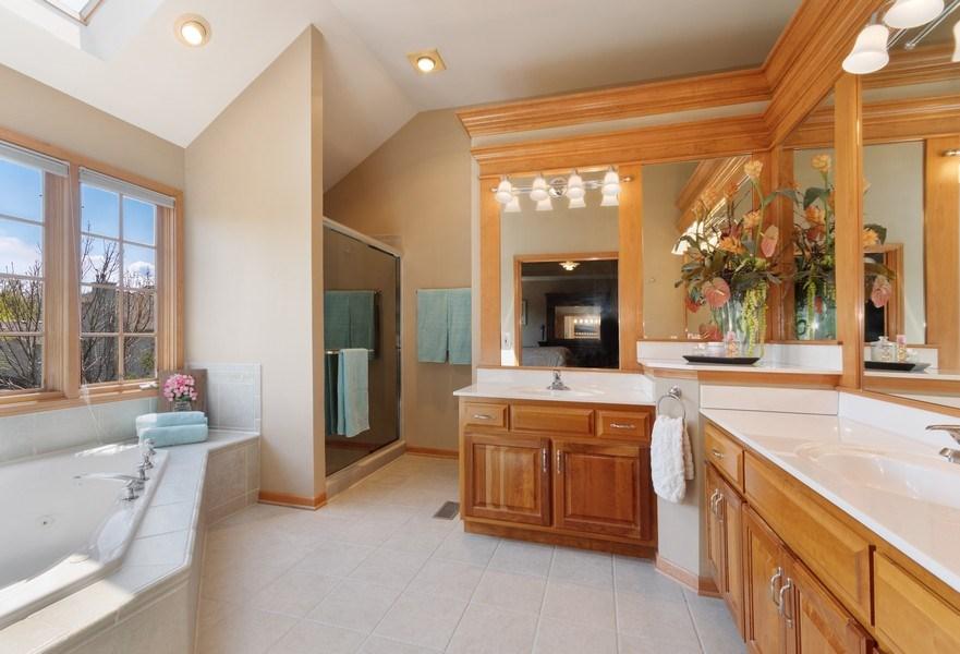 Real Estate Photography - 630 Ekman Drive, Batavia, IL, 60510 - Master Bathroom