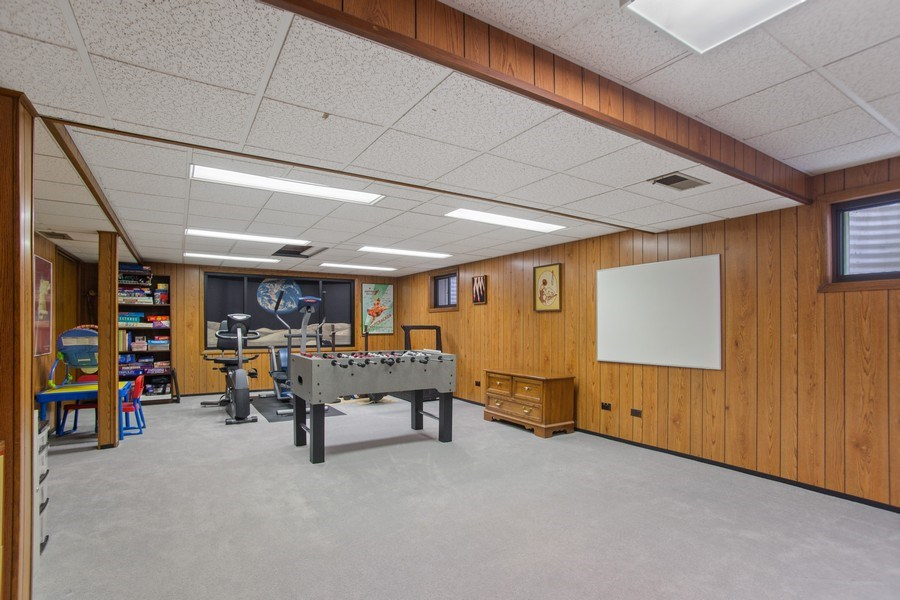 Real Estate Photography - 112 Wisner Street, Park Ridge, IL, 60068 - Basement Recreation Room