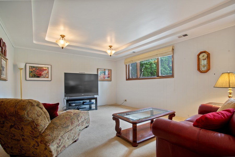 Real Estate Photography - 112 Wisner Street, Park Ridge, IL, 60068 - Lower Level Family Room