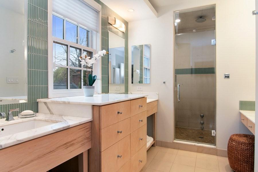 Real Estate Photography - 3206 Park Place, Evanston, IL, 60201 - Master Bathroom