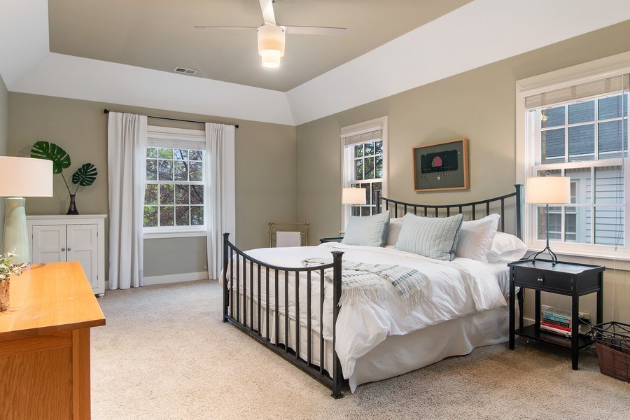 Real Estate Photography - 3206 Park Place, Evanston, IL, 60201 - Master Bedroom