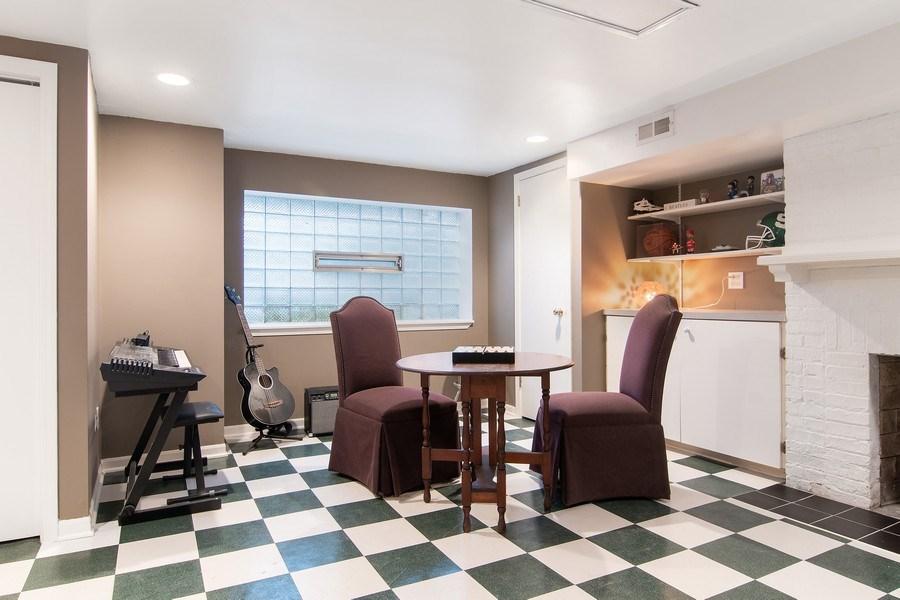 Real Estate Photography - 3206 Park Place, Evanston, IL, 60201 - Basement Rec. Room