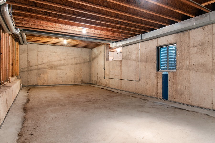 Real Estate Photography - 3206 Park Place, Evanston, IL, 60201 - Huge Unfinished Basement