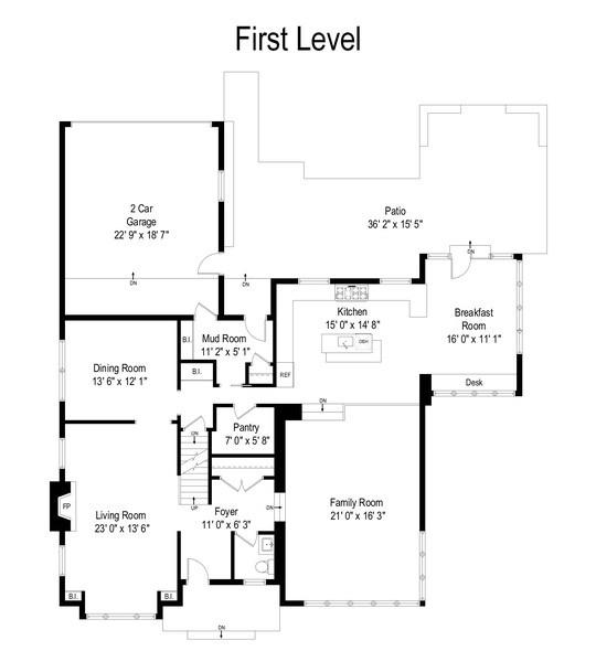 Real Estate Photography - 3206 Park Place, Evanston, IL, 60201 - Floor Plan