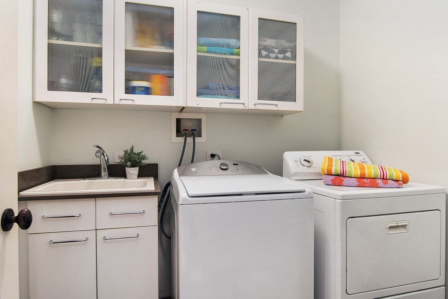 Real Estate Photography - 3206 Park Place, Evanston, IL, 60201 - 2nd Floor Laundry