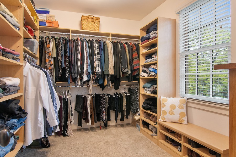 Real Estate Photography - 3206 Park Place, Evanston, IL, 60201 - Master Bedroom Closet