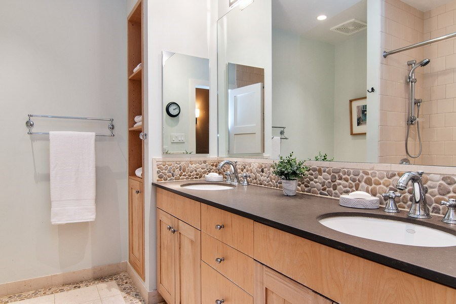 Real Estate Photography - 3206 Park Place, Evanston, IL, 60201 - Hall Bathroom