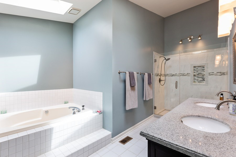 Real Estate Photography - 37W261 Heritage Drive, Batavia, IL, 60510 - Master Bathroom