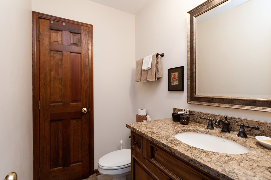 Real Estate Photography - 223 Deepwood Court, Barrington Hills, IL, 60010 - Powder Room