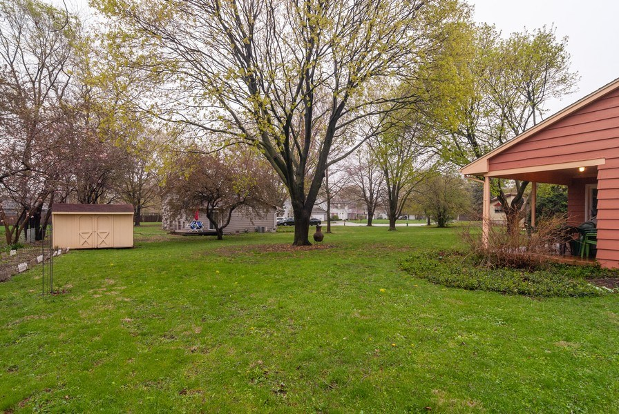 Real Estate Photography - 806 Hamlet Street, Batavia, IL, 60510 - Back Yard and Shed