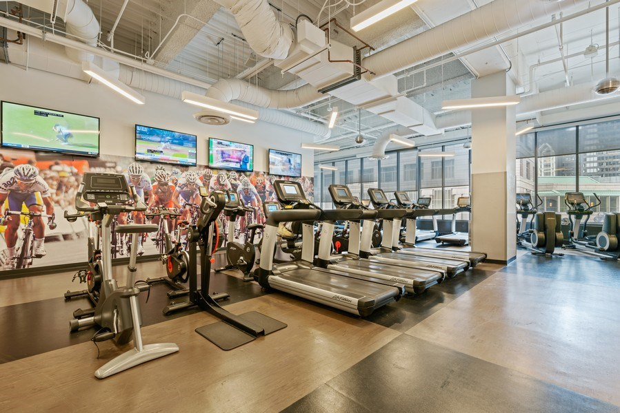 Real Estate Photography - 225 N Columbus Dr, 6504, Chicago, IL, 60601 - Gym