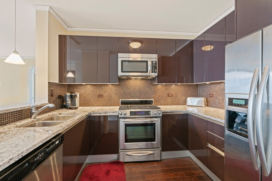 Real Estate Photography - 225 N Columbus Dr, 6504, Chicago, IL, 60601 - Kitchen