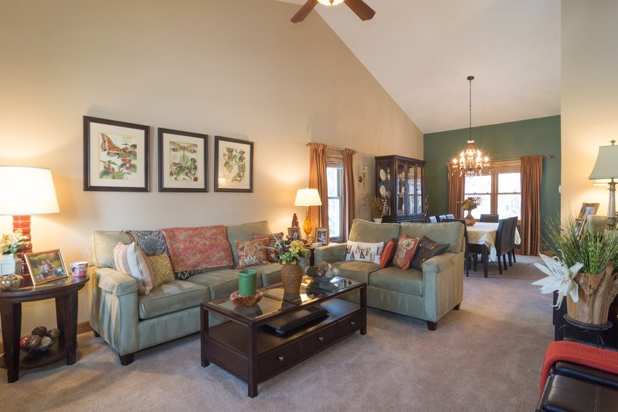 Real Estate Photography - 465 Thistle Lane, Lake Zurich, IL, 60047 - Living Room / Dining Room