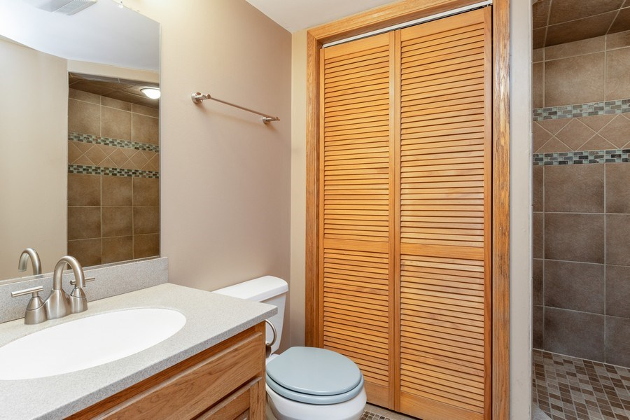Real Estate Photography - 32W526 Forest Drive, Aurora, IL, 60502 - 2nd Bathroom