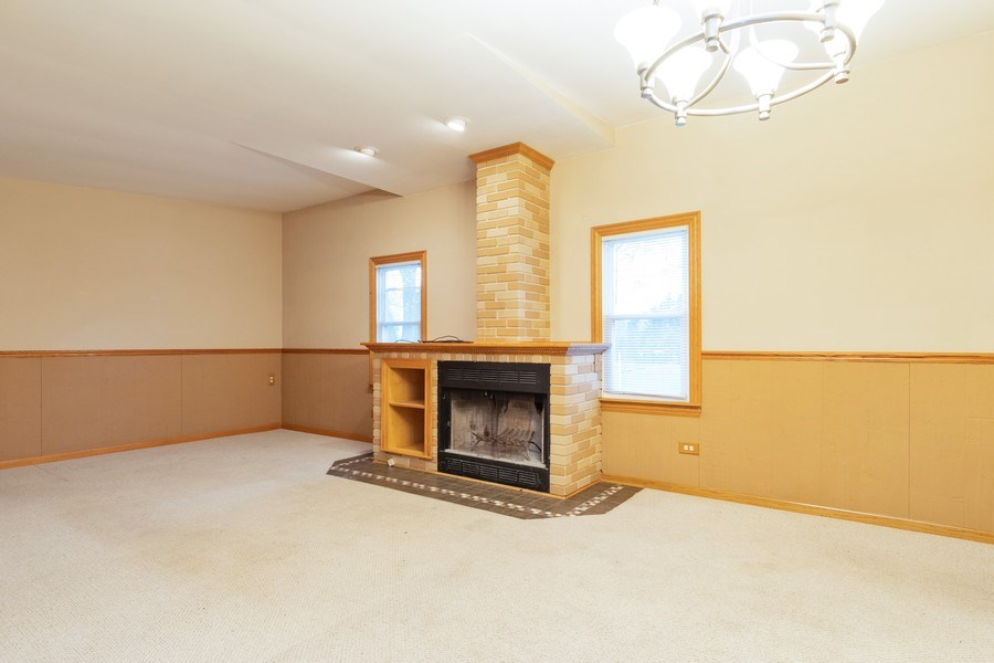 Real Estate Photography - 32W526 Forest Drive, Aurora, IL, 60502 - Living Room / Dining Room