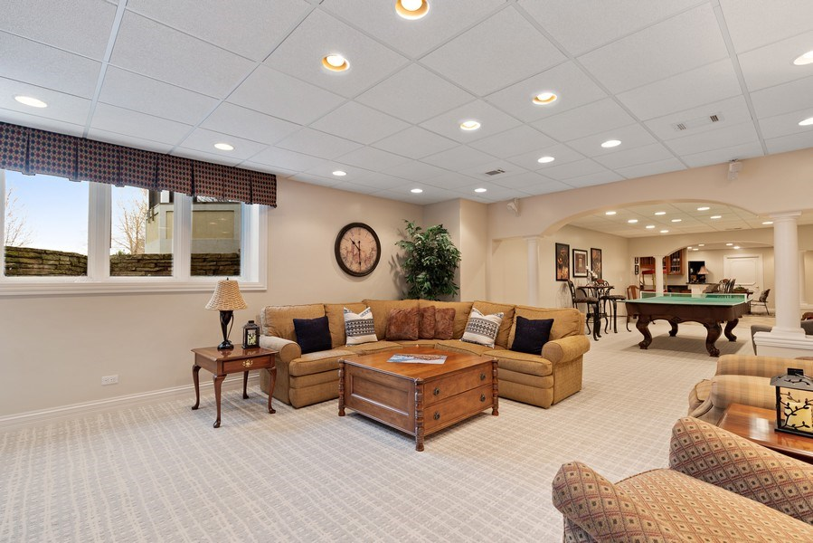 Real Estate Photography - 29040 N. Spoon Court, Mundelein, IL, 60060 - Recreation room in basement