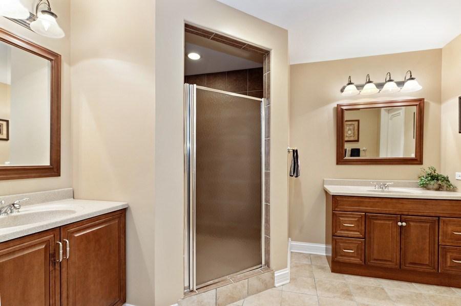 Real Estate Photography - 29040 N. Spoon Court, Mundelein, IL, 60060 - Basement bathroom
