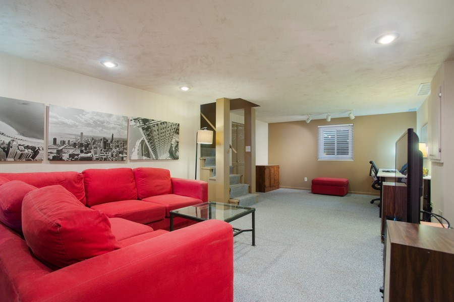 Real Estate Photography - 131 N. Gibbons Avenue, Arlington Heights, IL, 60004 - Lower Level Rec Room