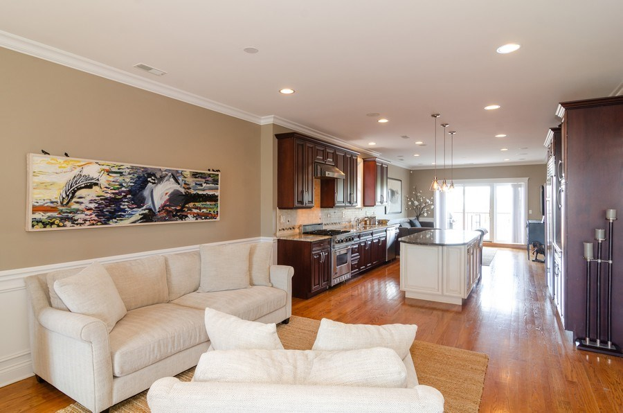 Real Estate Photography - 2620 N. RACINE Avenue, Unit PH, Chicago, IL, 60614 - Living Room