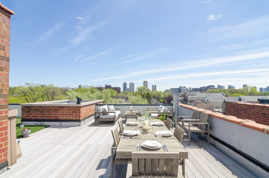 Real Estate Photography - 2620 N. RACINE Avenue, Unit PH, Chicago, IL, 60614 - Roof Deck