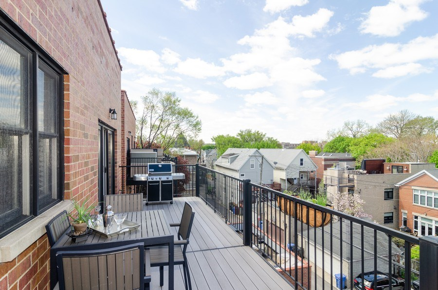 Real Estate Photography - 2620 N. RACINE Avenue, Unit PH, Chicago, IL, 60614 - Rear Terrace